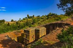 St George kyrka, Lalibela fotografering för bildbyråer