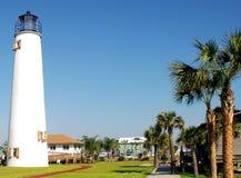 St George Light. The Lighthouse on St George Island, located on St George Island, Florida Stock Photo