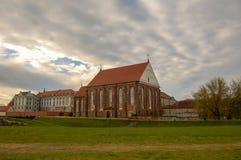 St George męczennika kościół w starym miasteczku Kaunas, od 1471 Gocka architektura w Lithuania zdjęcie royalty free