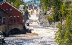 St George Magaguadavic River na fase da inundação Imagens de Stock Royalty Free
