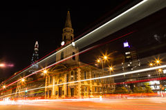 St George the Martyr by night. Night view of St George The Martyr church in London Royalty Free Stock Images