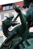 St George massacrant le dragon, Berlin Image libre de droits