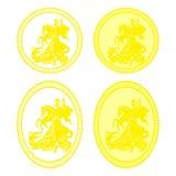 St George medalj stock illustrationer