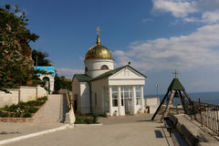 St. George monastery at Cape Fiolent in Sevastopol royalty free stock photography