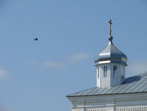 St. George monastery in the Russian town of Meshchovsk Kaluga region. Royalty Free Stock Photo