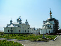 St. George monastery in the Russian town of Meshchovsk Kaluga region. Stock Photo