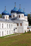 St George Monastery, Veliky Novgorod, Rusland Royalty-vrije Stock Fotografie