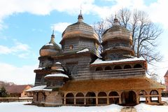 St. George Orthodox Church in Drohobych, Ukraine. Built ca. 1500, it is listed as UNESCO World Heritage Site royalty free stock photo