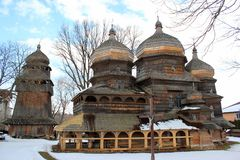 St. George Orthodox Church in Drohobych, Ukraine. Built ca. 1500, it is listed as UNESCO World Heritage Site stock images
