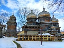 St. George Orthodox Church in Drohobych, Ukraine. Built ca. 1500, it is listed as UNESCO World Heritage Site royalty free stock photos