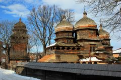 St. George Orthodox Church in Drohobych, Ukraine. Built ca. 1500, it is listed as UNESCO World Heritage Site royalty free stock images