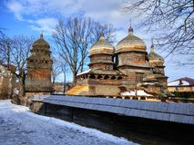 St George Orthodox Church em Drohobych, Ucrânia imagem de stock royalty free