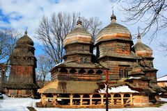 St George Orthodox Church i Drohobych, Ukraina Arkivbilder
