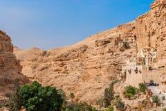 St George Orthodox Monastery est situé en Wadi Qelt Photos libres de droits