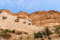 St George Orthodox Monastery est situé en Wadi Qelt Images libres de droits