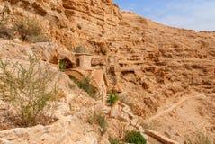 St George Orthodox Monastery est situé en Wadi Qelt Photos stock