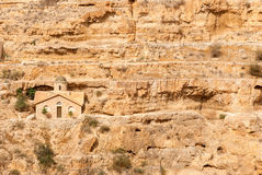 St. George Orthodox Monastery is located in Wadi Qelt. Stock Photography