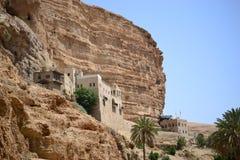 St. George Orthodox Monastery, Wadi Qelt, Judean desert, close to Jericho, Israel. Nahal prat, Mitzpe Yeriho stock photos