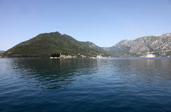 St.George and Our Lady of the rocks church, Perast, Montenegro Royalty Free Stock Image