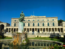 St George palace. In Corfu island Greece with blue sky Royalty Free Stock Photos