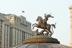 St. George-patron of Moscow,building of State Duma Stock Photography