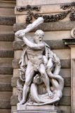 St. George que mata um dragão Fotografia de Stock