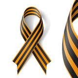 St.George Ribbon. Black and gold Ribbon of St George on white background royalty free illustration