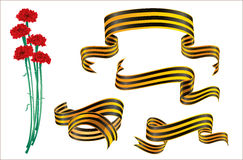 St.George ribbon and cloves. Stock Photography