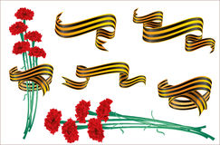 St.George ribbon and cloves. Royalty Free Stock Images