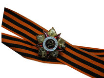 St. George ribbon with a medal Royalty Free Stock Image