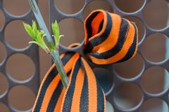 St. George ribbon - a symbol of the great victory stock image