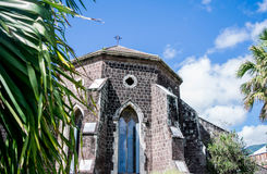 St. George's Anglican Church- Basseterre, St. Kitts. This church (1859) features a winding staircase to the operational bell tower.  St. George's Anglican Church Royalty Free Stock Photography