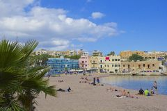 St George's Bay, St Julians, Malta Stock Image