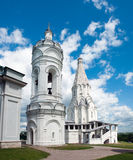 St. George's bell tower and  Church of the Ascension in , Moscow. Stock Photo