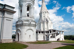 St. George's bell tower and  Church of the Ascension in , Moscow. Royalty Free Stock Photography
