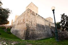 St. George`s castle in Lisbon, Portugal. St. George`s castle Castelo de Sao Jorge in Lisbon, Portugal Royalty Free Stock Image