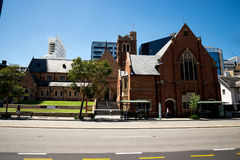 St George`s cathedral building in Perth City centre Royalty Free Stock Image