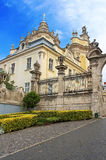 St. George's Cathedral in the city of Lviv, Ukraine royalty free stock images