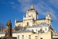 St. George's Cathedral in Lviv Royalty Free Stock Photos