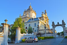St. George's Cathedral in Lviv, Ukraine. St. George or St.Yura Cathedral in Lviv, Ukraine stock photos