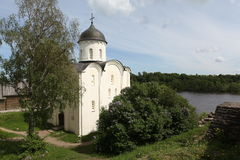 St. George's Cathedral. Staraya Ladoga Stock Images