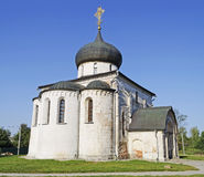 St. George's Cathedral in Yuriev-Polsky. St. George's Cathedral (1234) in Yuriev-Polsky, Vladimir region, Russia. Golden Ring of Russia royalty free stock photography