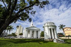 St George's Church in Penang Malaysia. Anglican Church which is also a colony of the European heritage who came to this island. The church was built in 1818 and royalty free stock photo
