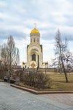 St. George`s Church on the Poklonnaya hill, Moscow. Stock Photo