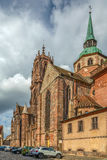 St. George`s Church, Selestat, Alsace, France Stock Images