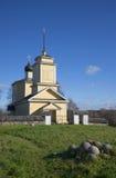St. George's Church sunny autumn day. Gorodishche Voronich, Pushkinskiye Gory Stock Photo