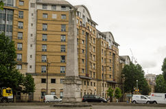 St George's Circus, Southwark. LONDON, UK - JUNE 16, 2014: The historic obelisk at the centre of St George's Circus, a traffic roundabout, in Southwark, London Royalty Free Stock Photo