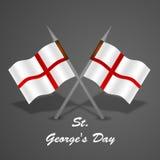 St George ` s Dagachtergrond Stock Foto's