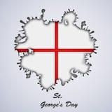 St George ` s Dagachtergrond Stock Afbeeldingen
