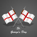 St George`s Day background. Illustration of England Flag for St George`s Day Stock Photos